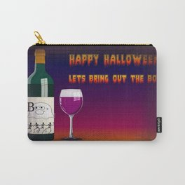 Happy Halloween Let's Bring Out the Boo's Greeting  Carry-All Pouch