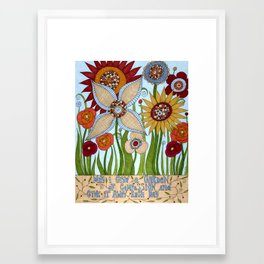Garden of Compassion Framed Art Print