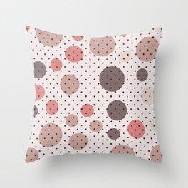 Scandinavian dots and points pattern design Throw Pillow