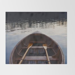 No where to row Throw Blanket