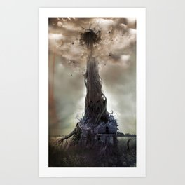 Jack and the beanstalk Art Print