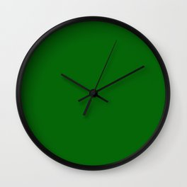 Deep Green - solid color Wall Clock