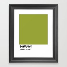 VEGAN POWER Framed Art Print