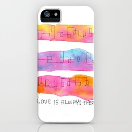 Love Is Always There line drawing pink abstract painting minimal illustration minimalism peaceful iPhone Case