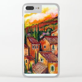 Tuscan Roofs Clear iPhone Case