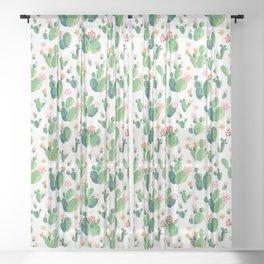 Cactus pattern II Sheer Curtain