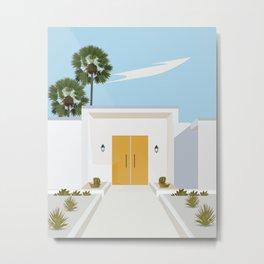 California palms house poster  Metal Print