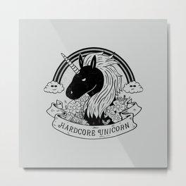 Hardcore Unicorn Metal Print