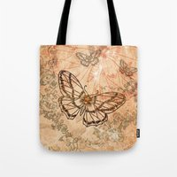 butterflies Tote Bags featuring Butterflies by nicky2342