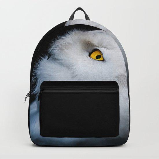 Winter White Snowy Owl Backpack