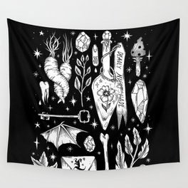 into the WITCH'S GARDEN Wall Tapestry