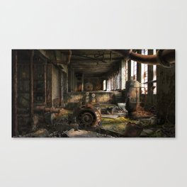 Deserted Factory Canvas Print