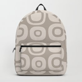 Mid Century Modern Garden Path Pattern 391 Beige Backpack