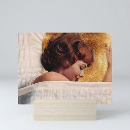 Toasty in bed Mini Art Print