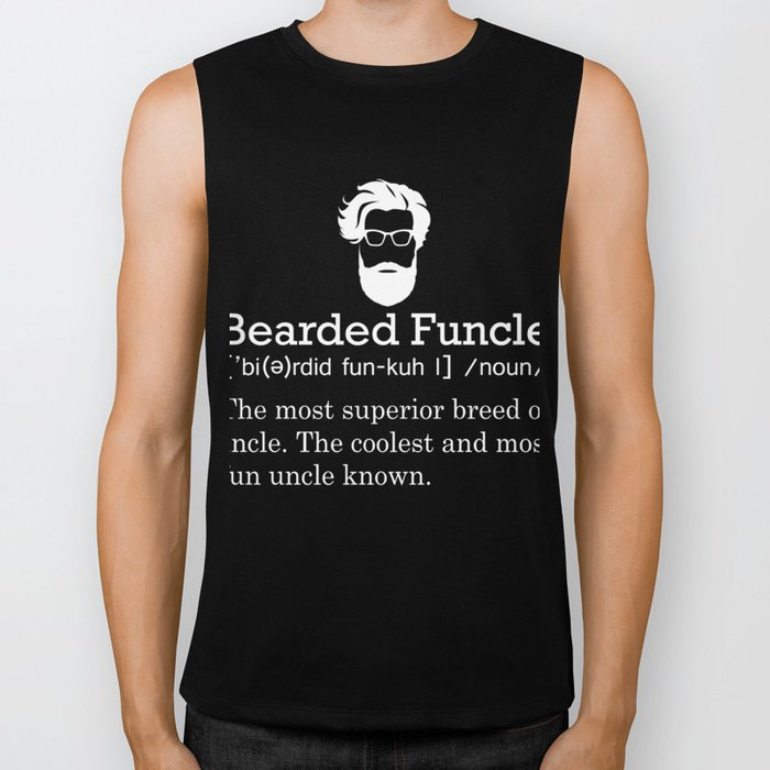 4f97beae Mens Uncle T-Shirt Bearded Funcle Funny Uncle Definition Gift Tee Biker Tank