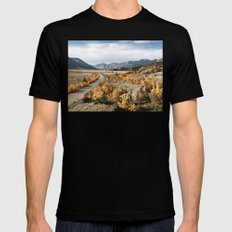 Fall Yukon Valley Black Mens Fitted Tee MEDIUM