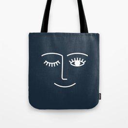 Wink (Annapolis Blue) Tote Bag