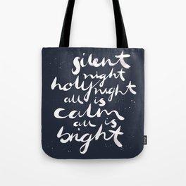 Silent Night. Tote Bag