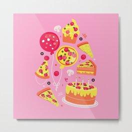 Pizza Party Metal Print