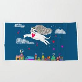 Kitty Angel Beach Towel