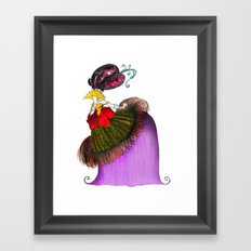Lady with Fan Framed Art Print