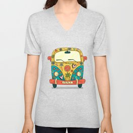 Hippie Bus Unisex V-Neck