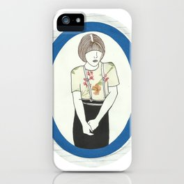 Girl With Braces iPhone Case