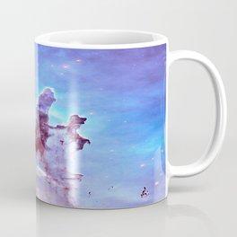 nEBulA Pastel Blue & Lavender Coffee Mug
