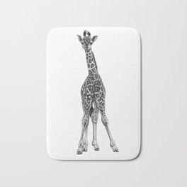 Baby giraffe - ink illustration Bath Mat