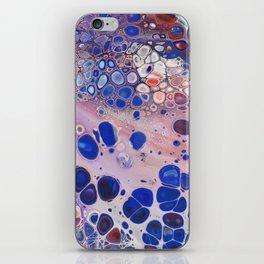 Applause  -  Colorful Fun Red Purple Blue Fluid Acrylic Paint Pour Design Art iPhone Skin
