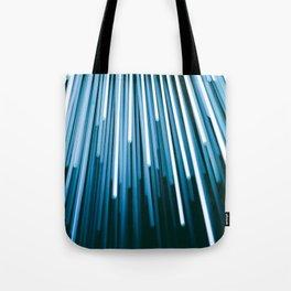 Hyperspace Fiber Optics Blue white Streaks Of Light Tote Bag