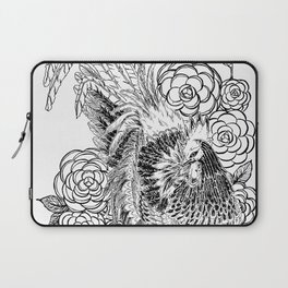 Rooster & Camellia Hat Laptop Sleeve