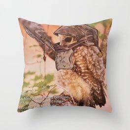 Birds In Armor Throw Pillow