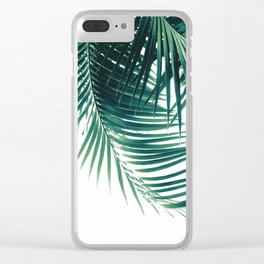 Palm Leaves Green Vibes #4 #tropical #decor #art #society6 Clear iPhone Case