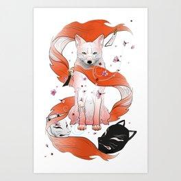 Red Kitsune Kunstdrucke