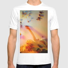 Blooming Colors White Mens Fitted Tee MEDIUM