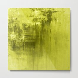Chartreuse Modern Abstract Art I Metal Print