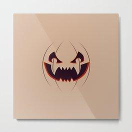 Halloween pumpkin face Metal Print