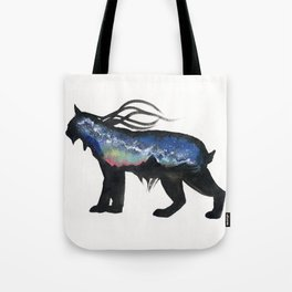 Aurora Milky Way Lynx. Tote Bag