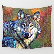 Aura of the Wolf Wall Tapestry