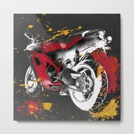 Ducati 1098 Color Spots Metal Print