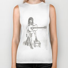 Now If Only I Could Play Guitar (sketch) Biker Tank