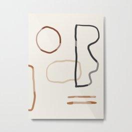Minimal Abstrac Line Shapes  Metal Print