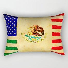 MEXICAN AMERICAN FLAG - 017 Rectangular Pillow