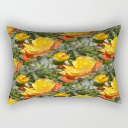 Bloomin' Gold roses... Rectangular Pillow