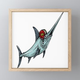 Football Fish Framed Mini Art Print