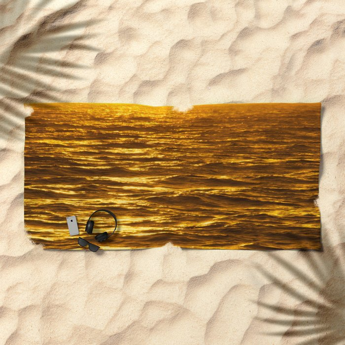 Gold Ocean Beach Towel