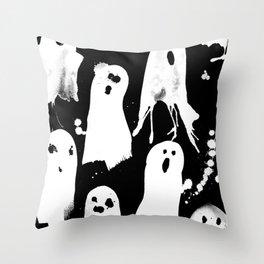 Ghost Splats Throw Pillow