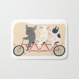 tandem bike Bath Mat