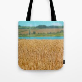Golden Corn by the Turquoise Water Tote Bag